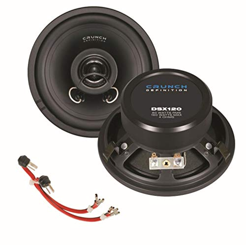 Crunch DSX120 12cm 2 Wege Koaxial Lautsprechersystem für Armaturenbrett für W124 E-Klasse Limousine und Coupé