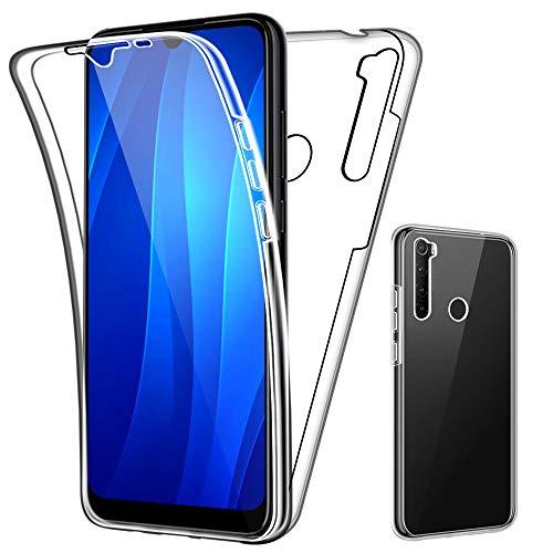 SDTEK Custodia per Xiaomi Redmi Note 8T Protezione Frontale Posteriore Tutto Corpo 360 Cover Trasparente Trasparente
