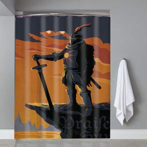 Nyngei Hot Famous Dark Souls Solaire of Astora - Cortina de Ducha (edición Limitada, 183 x 183 cm)