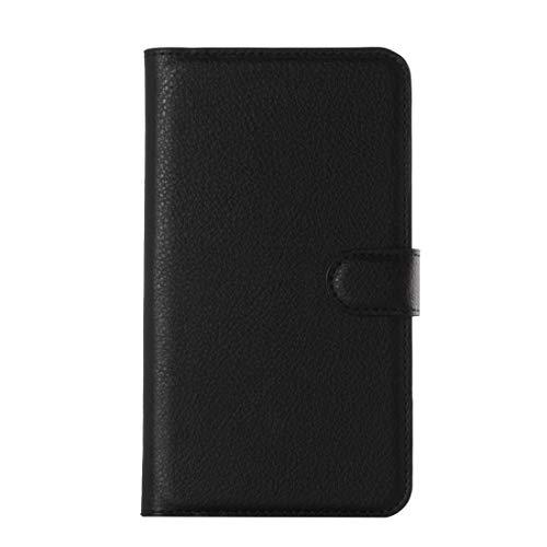 GBHGBH IT Custodia in Pelle a Vibrazione Orizzontale Compatibile con Galaxy Core Prime / G360 Litchi Texture con Supporto e Slot for schede e Portafoglio (Nero) (Colore : Black)
