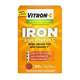 Vitron-C High Potency Iron Supplement with Vitamin C, Pack of 3 (180 Count Total)