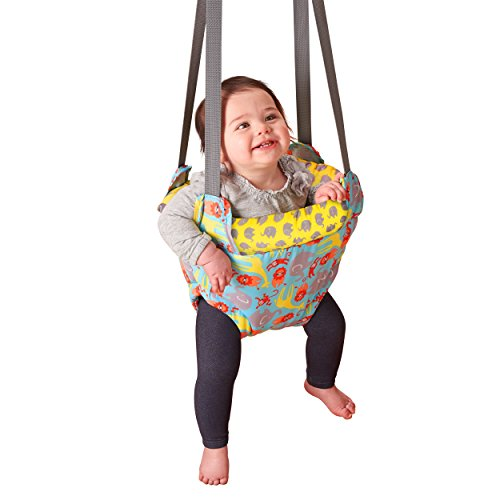 Why Choose Evenflo ExerSaucer Doorway Jumper, Safari Trek