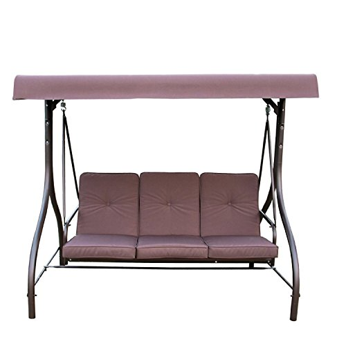 Mainstay Lawson Ridge Converting Outdoor Swing/Hammock, Brown, Seats 3