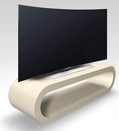 Zespoke Rétro Conception de Cerceau de Style Grande Largeur Crème Mat Meuble TV/Armoire 110cm