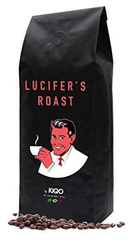 LUCIFER\'S ROAST Espresso by KIQO aus Italien - 500g - extrem starker Kaffee - säurearm - 100{1f94d9713cd570d94f55ca538b695945931c12a27cf9a90406245592bad5155c} Robusta - Manufakturröstung in Kleinstchargen (500g - ganze Bohnen)