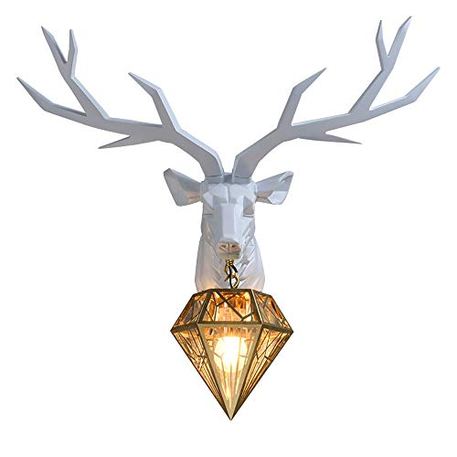 Dierenkop hertenhoofd wandlamp bedlampje, in Amerikaanse stijl woonkamer slaapkamer werkkamer wanddecoratie, lamp creatieve halve lichaam hertenhoofd