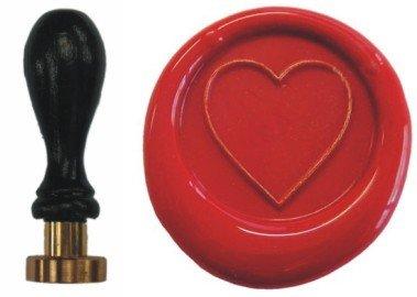 Siegel Stempel Petschaft Herz 24 mm