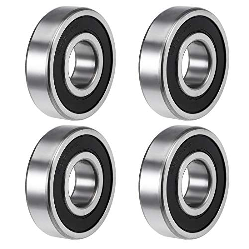 uxcell 6305-2RS Deep Groove Ball Bearings Z2 25mm X 62mm X 17mm Double Shielded Carbon Steel 4pcs