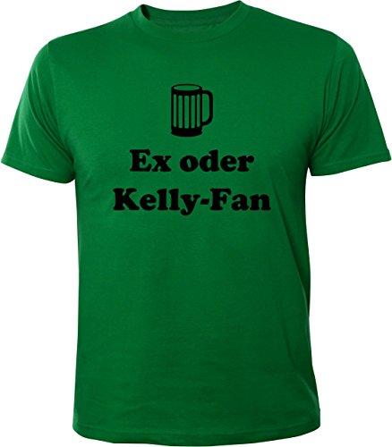 Mister Merchandise Witziges Herren Männer T-Shirt Ex oder Kelly-Fan Kelly Fan Family Saufen Party, Größe: XL, Farbe: Grün