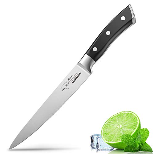 Utility Knife for Kitchen 6 Inch Chef Knife, German High Carbon Stainless Steel Kitchen Knives with Ergonomic Handle
