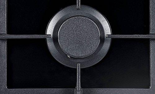 NJ Domino-302G Placa de gas incorporada 2 quemadores Quemador Wok de vidrio negro de 30 cm Uso de GLP/gas natural