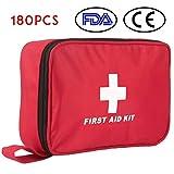 Botiquín de Primeros Auxilios de 180 Piezas WEINAS® Kit de Primeros Auxilios Súper Compacto y...