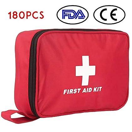 Botiquín de Primeros Auxilios de 180 Piezas WEINAS® Kit de Primeros Auxilios Súper Compacto y Profesional para Hogar…