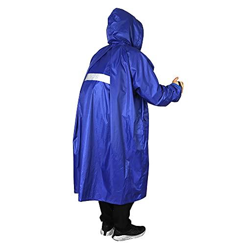Anyoo Wasserdicht Radfahren Regen Poncho Portable Leichte Regenjacke Mit Kapuze Fahrrad Fahrrad Compact Regen Cape Wiederverwendbare Unisex für Backpacking Camping Outdoors, Blau