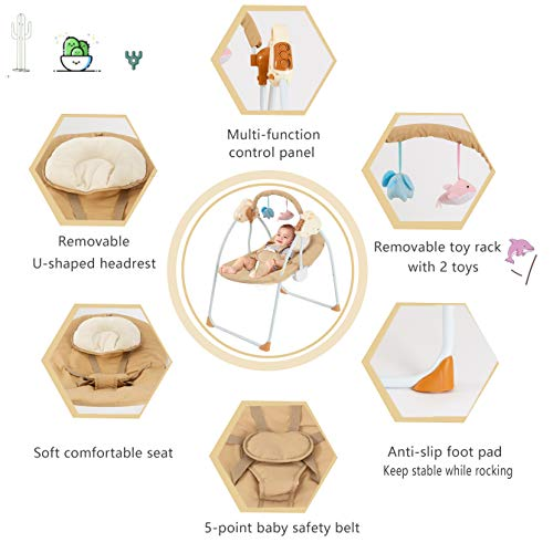 41oALiO77BL 10 Best Portable Baby Swings on the Market 2021 Review