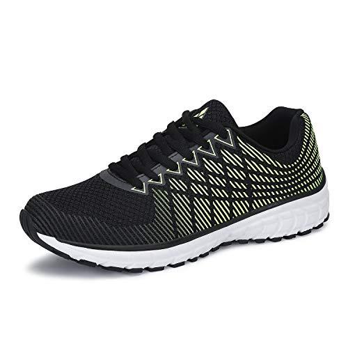 Mishansha Mens Womens Breathable Sports Trail Running Shoes Comfortable Sneakers Walking Gym Tennis Road Green 11 Women/9.5 Men