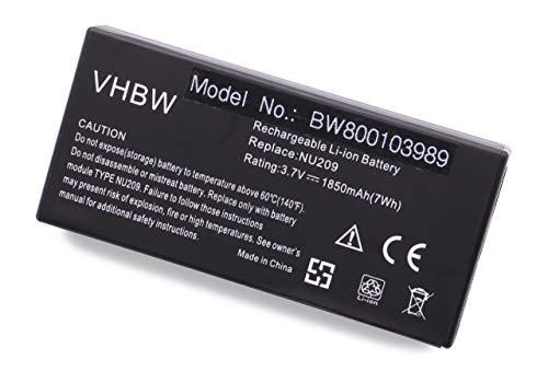 vhbw Batterie Compatible avec Dell Poweredge M600, M605, R415, R805, R905, T105, T300, T301, T605, 2970 Laptop (1850mAh, 3,7V, Li-ION)