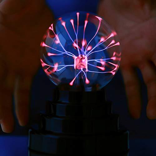 Magischer Elektrostatische Kugel, tragbarer Mini-Plasma-Blitzball, USB oder batteriebetrieben als Geburtstags- und Feriengeschenk, dekoratives Nachtlicht