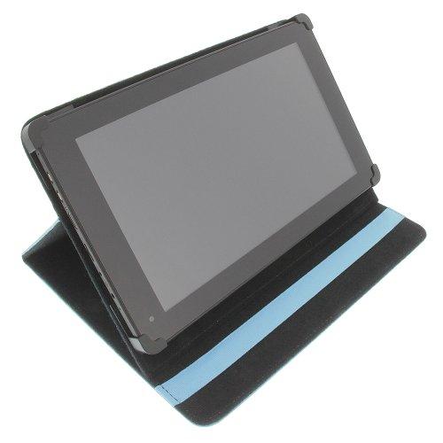 foto-kontor Tasche für Blaupunkt Endeavour 1010 HD Book Style Schutz Hülle Buch hell-blau