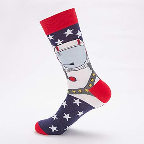 DYCZWZ Unisex Sport- Und Freizeitsocken 2 Paar Happy Socken Herren Baumwolle Lustige Socken Mode Herren Bunte Lange Skateboard Socken Schwarzer Boden Bierglas Socken