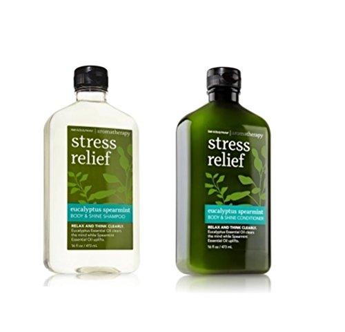 Bath and Body Works Eucalyptus Spearmint Body and Shine Shampoo and...