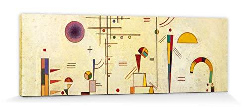 1art1 Wassily Kandinsky - Ernst Und Spaß, 1930 Bilder Leinwand-Bild Auf Keilrahmen | XXL-Wandbild Poster Kunstdruck Als Leinwandbild 150 x 50 cm