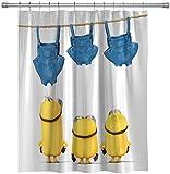 pobpop Yellow Shower Curtains Mischievous Minions Series Shower Curtains Bath Curtain Polyester Waterproof Bathroom Curtain (1) 72 x 60 inches (1)