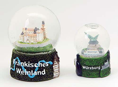 Minium Collection 3 – 09 – 48 x 2 dulces Souvenas subfrancos Fränkische Weinland Würzburgo Fortance Marienberg Alter Kgrúa, Residencia, 65 mm + 45 mm de diámetro, con burbuja de aire