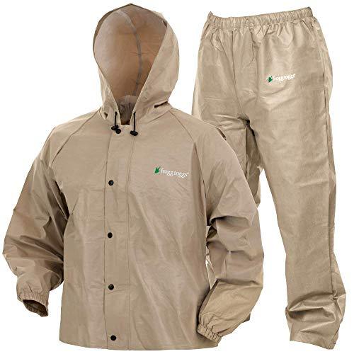 Frogg Toggs Pro Lite Waterproof Rain Suit, Khaki, Size X-Large/XX-Large