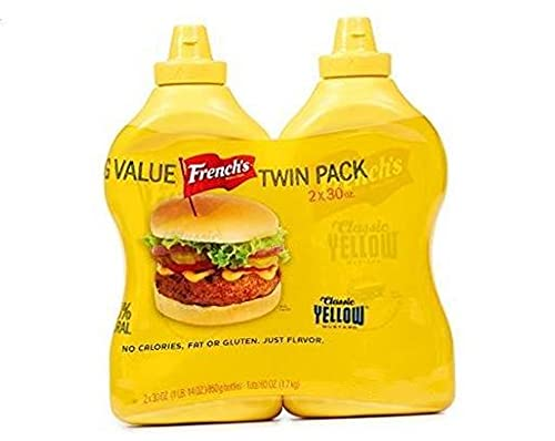French's Classic Yellow Mustard; Big Value Twin Pack - 2 Count (30 oz.) - SET OF 1