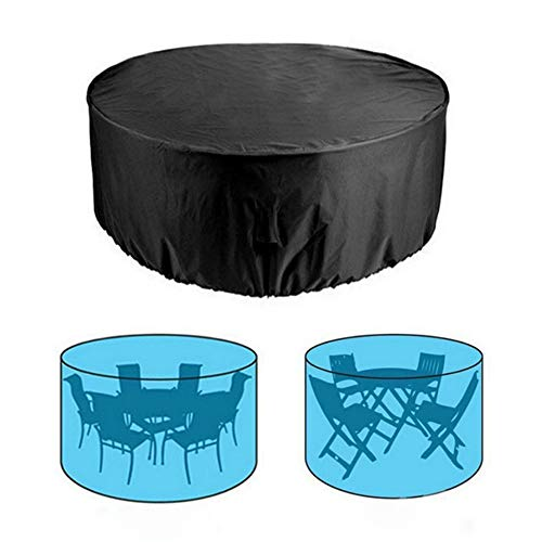 Copertura antipolvere rotonda per mobili in tessuto Oxford per tavolo e sedie,copertura protettiva impermeabile e antipolvere,può essere utilizzata pe