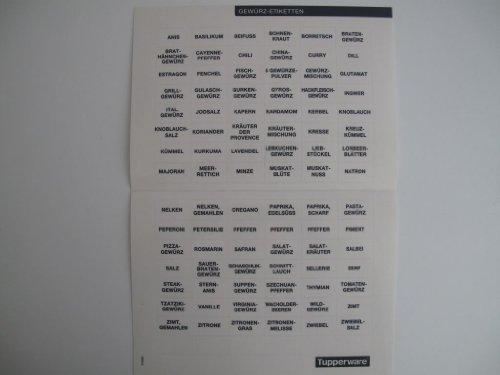 TUPPERWARE Etiketten Gewürz-Etiketten grau dunkelgrau NEU Klebeetiketten E17