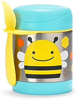 Skip Hop Baby Zoo Little Kid and Toddler Insulated Food Jar and Spork Set, Multi, Brooklyn Bee