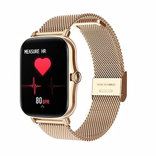 LLTG Smart Watch Y20 Pantalla táctil Completa IP67 Impermeable Tracker Tracker Pedómetro Ejercicio Tarifa cardíaca Monitor de presión Arterial,C