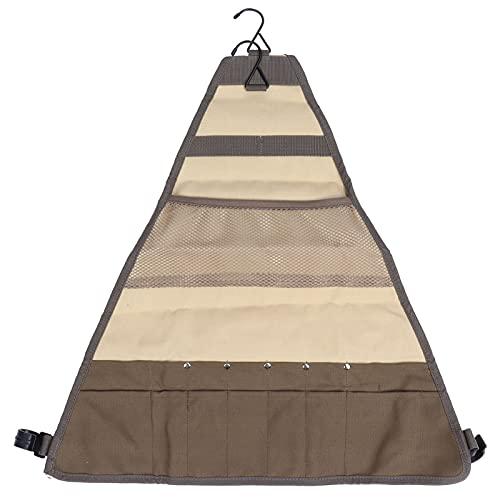 Gedourain Kochgeschirr-Set Aufbewahrungstasche, einfach zu tragen, bequemes Essen im Freien, Aufbewahrungstasche, Hakendesign für Picknicks, Camping, Wälder