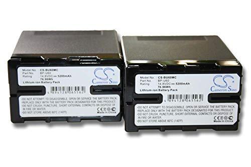 vhbw 2X batería Compatible con Sony PXW-FS7M2, PMW-100, PMW-EX1 cámara de vídeo,...