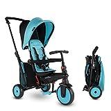 smarTrike STR3 Klappbares Kleinkinder-Dreirad mit Kinderwagen-Zertifizierung für 1,2,3 Jahre - 6 in 1 Mehrstufiges Dreirad , Blau