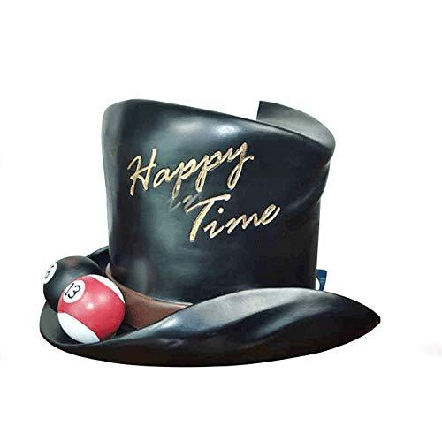 Sombrero creativo Forma titular del rollo de papel con billar Decoración, Resina europeo lindo caja del tejido cubierta del rollo de papel del dispensador, la manera de la vendimia de la servilleta ti