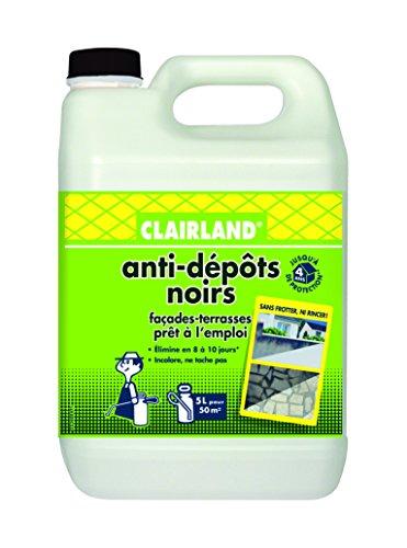 CLAIRLAND Bidon Anti-Dépôts noirs, Prêt à l'emploi, Dose d'emploi : 1L/10m², 5 L, CLAIRDEP5000