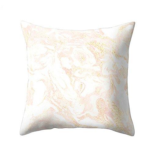 Shan-S Decorative Throw Pillow Covers,Geometric Marble Texture Throw Pillow Case Cushion Cover Cotton Linen Cushion Sofa Bedroom Car,Home Decor 18' x 18' 45cm x 45cm