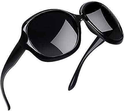 Gafas de sol polarizadas Joopin para mujer, vintage, marco grande, gafas de sol, negro