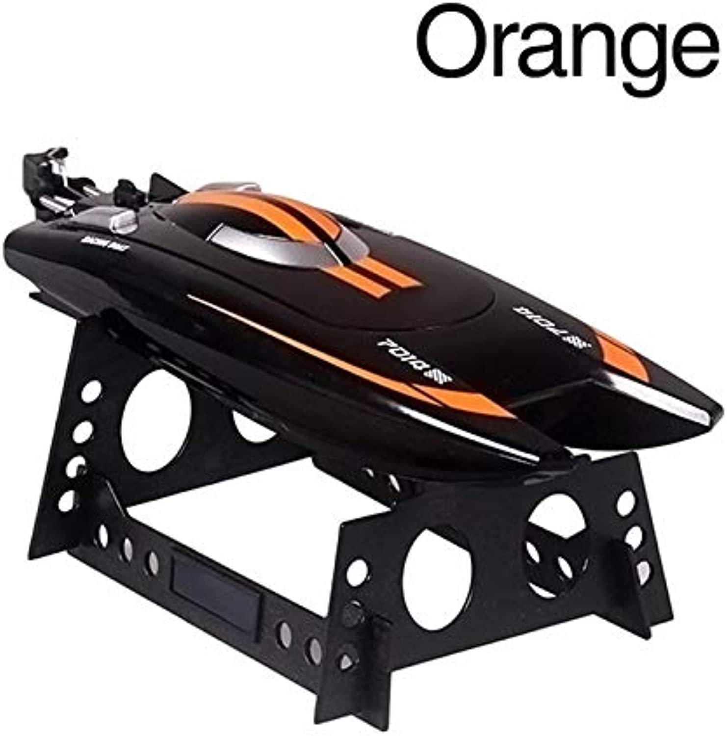 Generic Remote Radio Control servo Speedboat with Super Water Cooled Motor 2.4G Speed Rowing Boat 35x9.5x5.6CM orange