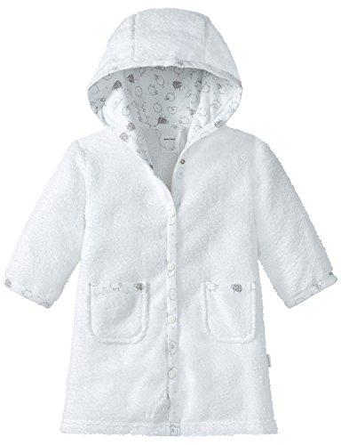 Schiesser Unisex Baby Bademantel, Weiß (Weiß 100), 74-80