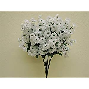 "Silk Flower Arrangements 15""Inch 12 Sprays White Baby Breath Gypsophila Filler Artificial Flowers"