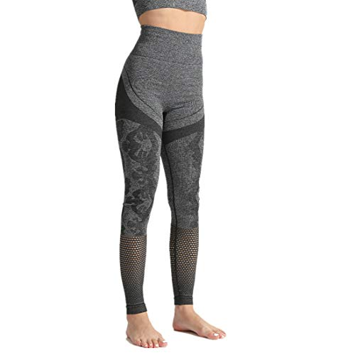 Fyj Damen Sexy Sport Leggings, Tech Mesh Yoga-Fitness-Hose, Lange Streetwear Sporthose mit Netzeinsätzen Yogahose Laufhose Training Tights zum Laufen, Radfahren, Pilates, 2020 Sommerhose S