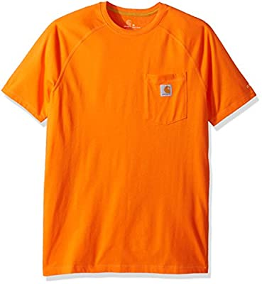 Carhartt Men's Big Force Cotton Delmont Short Sleeve T-Shirt (Regular and Big & Tall Sizes), Bold Orange, Large Tall