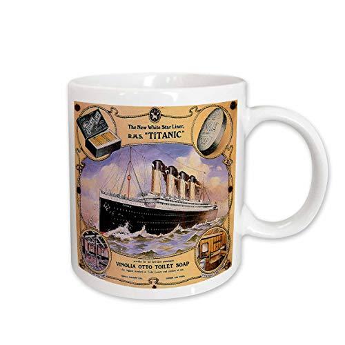 Mensuk Vintage White Star Line Titanic Vinolia Otto Toilet Soap Poster Magic...