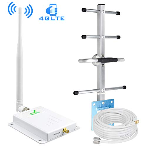 ATT Cell Phone Signal Booster 4G LTE AT&T T-Mobile Cell Phone Booster FDD Mobile Signal Amplifier Repeater 700Mhz Band 12/17 with Whip/Yagi Antennas - Boost 4G Data Signal for Rural Area