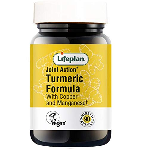 Lifeplan Joint Action Turmeric Formula with Copper & Manganese Tablets x 90. for Connective Tissue Support