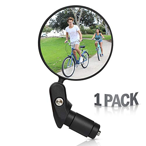 WESTLIGHT Zhou Bike Bar End Bike Mirror, MTB Bicycle Rear View Mirrors, Safe Rearview Mirror, Adjustable Rotatable Handlebar Mounted Plastic Convex Mirror for Mountain Road Bike Cycling